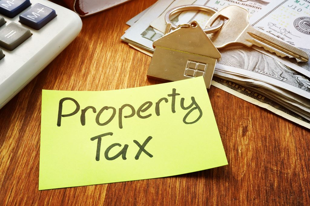 Property tax sticky note